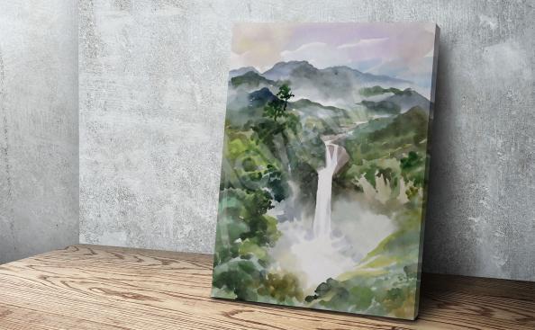obraz horský vodopád