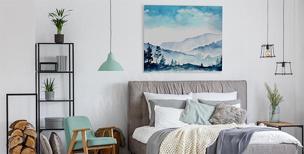 Obraz hory do ložnice