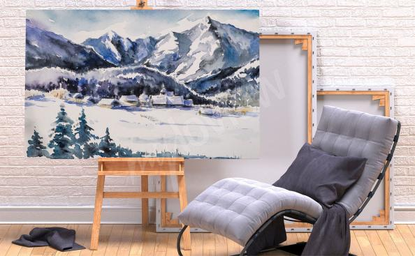 Obraz hory v zimě