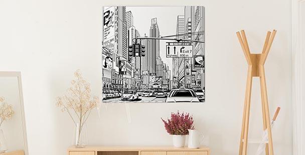 Obraz ilustrace velkého města