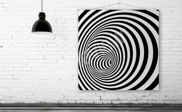 Obraz iluze 3D spirála