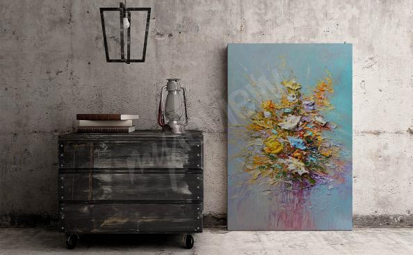 Obraz inspirovaný olejovým malířstvím