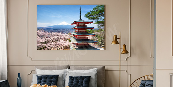 Obraz jaro v Japonsk