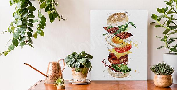 Obraz jídlo a burger