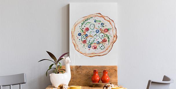 Obraz jídlo a pizza