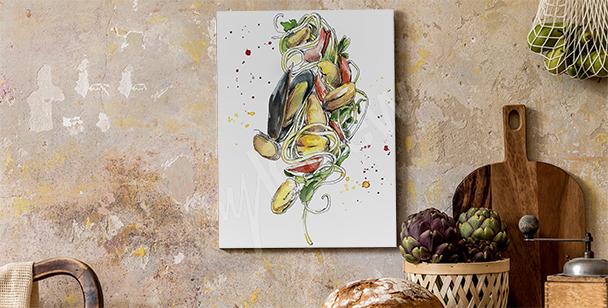 Obraz jídlo a slávky