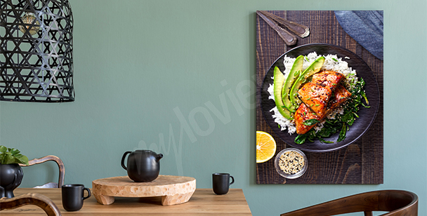 Obraz jídlo na talíři