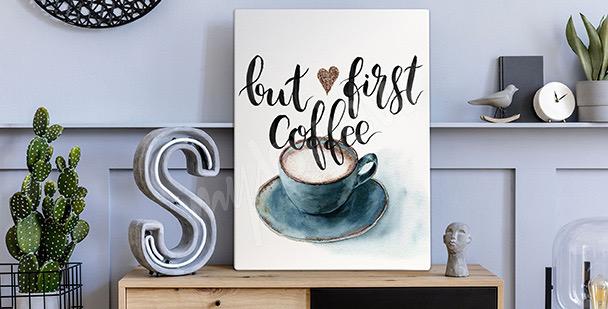 Obraz káva v akvarelu