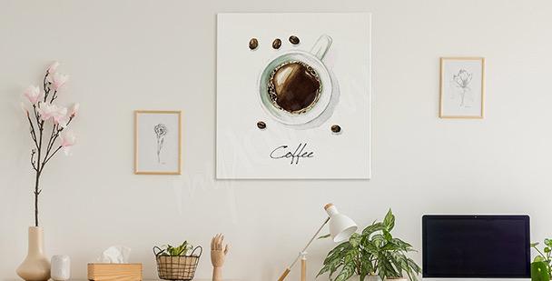 Obraz káva v šálku