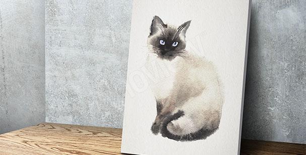 Obraz kočka malířství