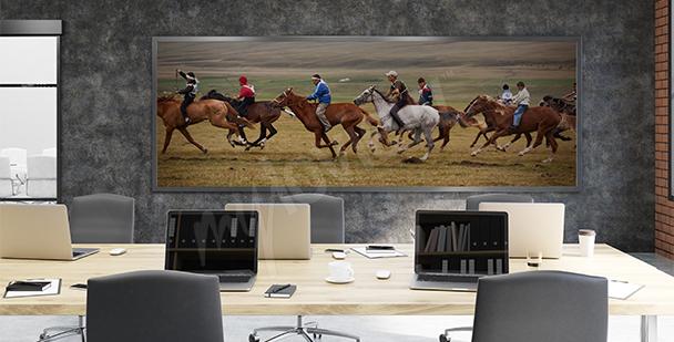 Obraz koňské dostihy