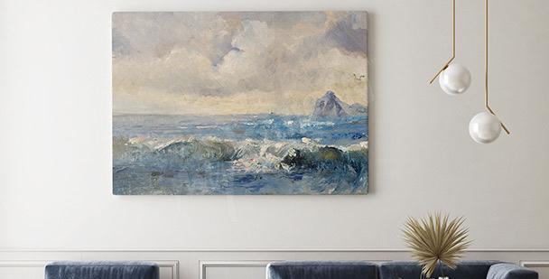 Obraz krajinka ve stylu olejomaleb