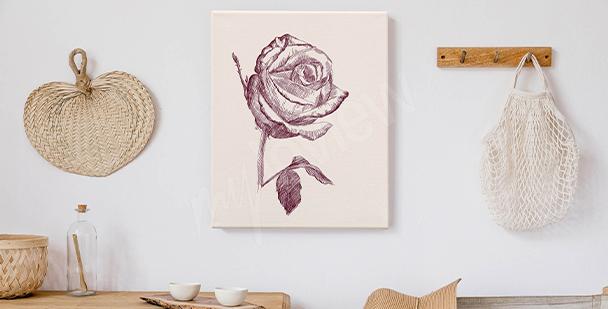 Obraz kreslené růže