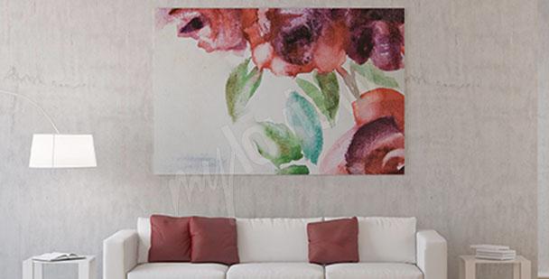 Obraz květiny růže akvarel