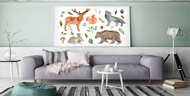 Obraz lesní zvířata