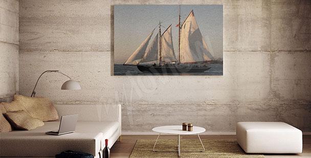 Obraz loď do obývacího pokoje