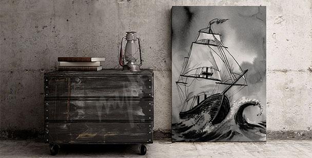 Obraz loď na moři