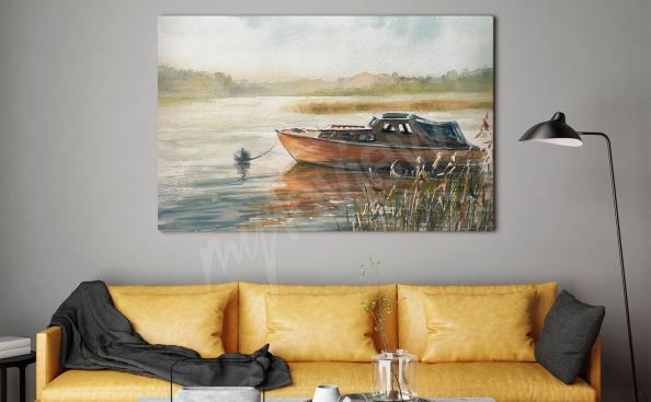 Obraz lodí v obývacím pokoji