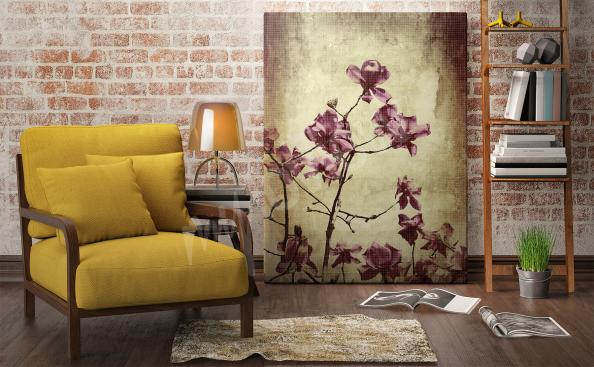 Obraz magnolie ve stylu vintage