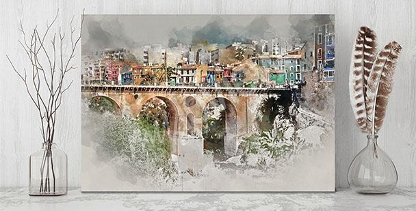 Obraz malebné městečko