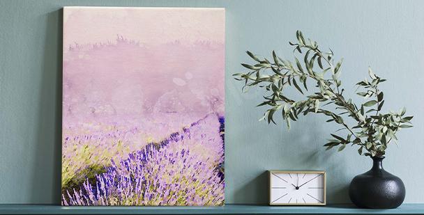 Obraz malované květiny