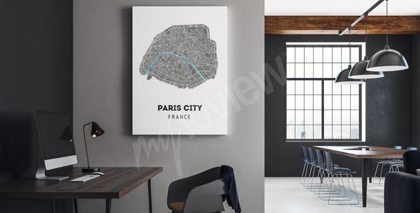 Obraz mapa města