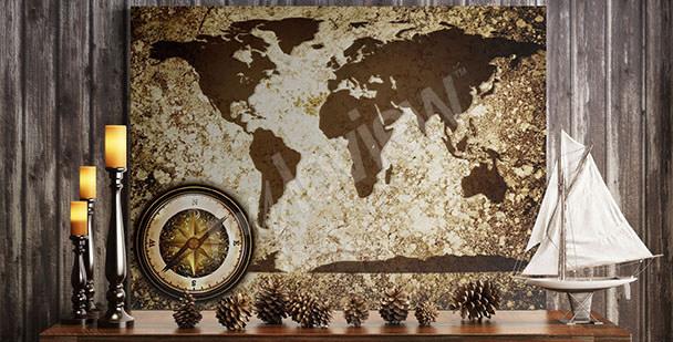 Obraz mapa světa retro