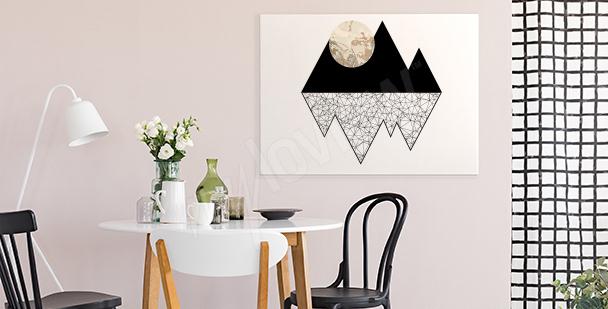 Obraz měsíc v horách