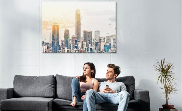 Obraz města s mrakodrapy