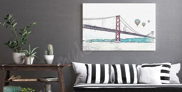 Obraz město v Portugalsku