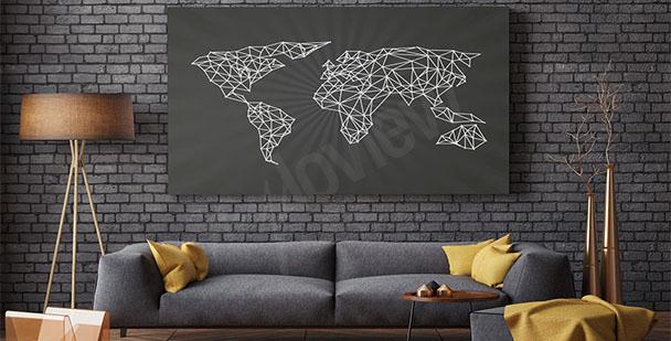 Obraz minimalistická mapa