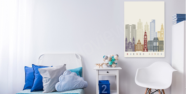 Obraz minimalistické Buenos Aires