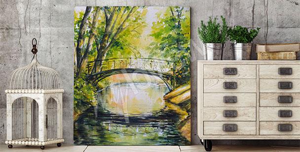 Obraz most mezi stromy