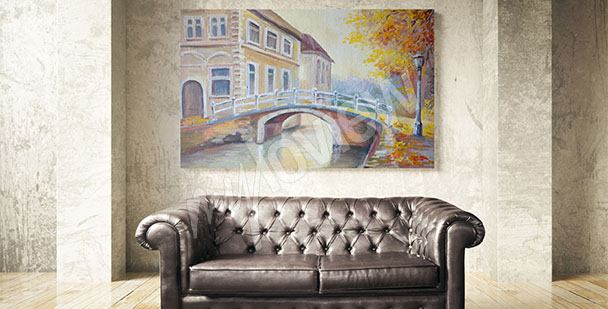 Obraz most na podzim