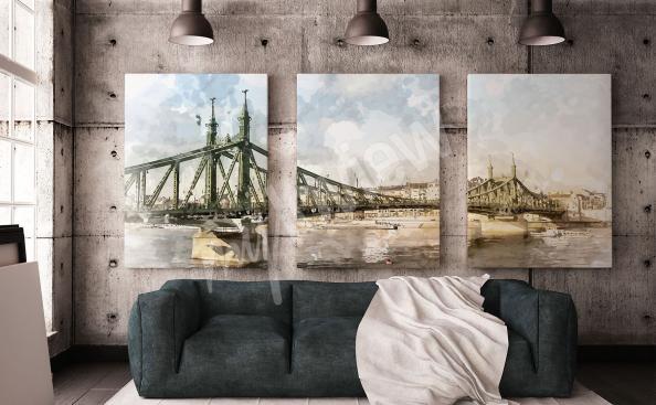 Obraz most v Budapešti