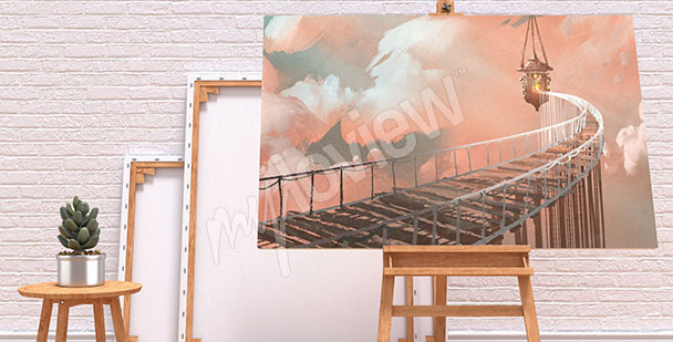 Obraz most v oblacích