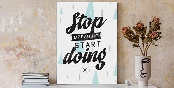 Obraz motivující k práci