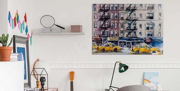 Obraz New York v akvarelu