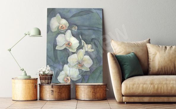 Obraz orchidej ručně malovaná