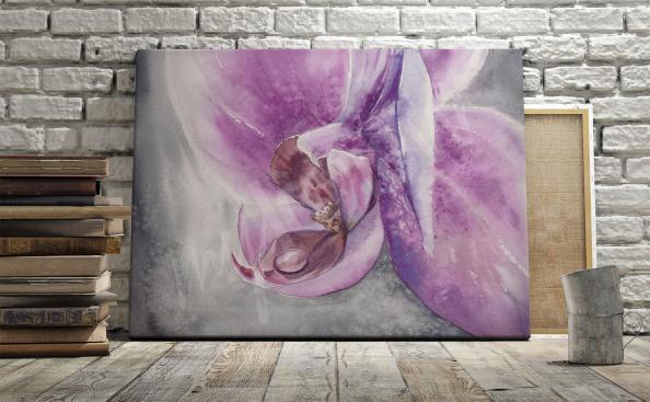 Obraz orchidej v obývacím pokoji
