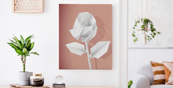 Obraz papírové květiny