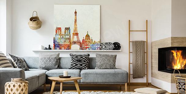 Obraz Paříž v akvarelu