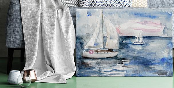 Obraz plachetnice na vodě