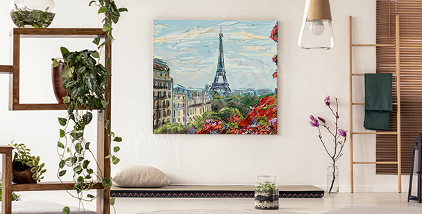 Obraz pohled na Eiffelovu věž