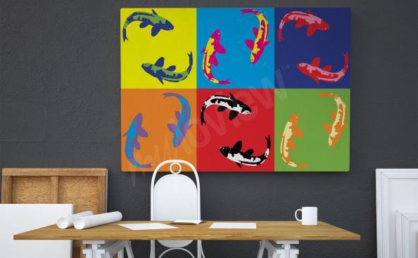 Obraz pop art ryby