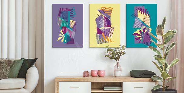 Obraz pop art s geometrickými vzory