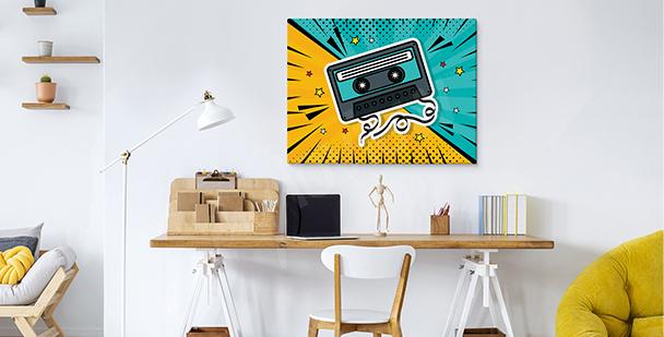 Obraz pop art s kazetou