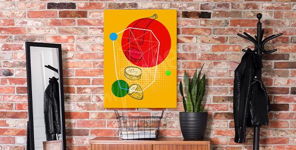 Obraz pop art s ovocem
