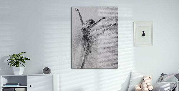Obraz portrét baletky
