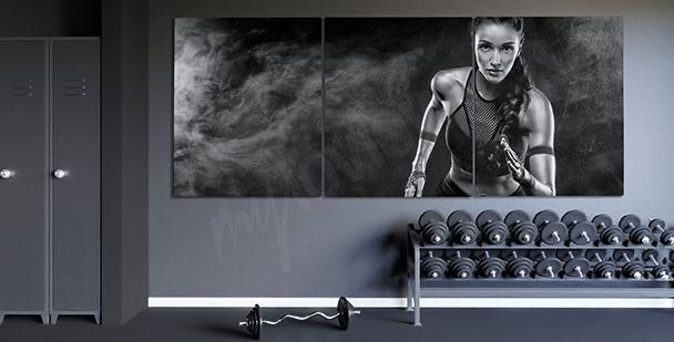Obraz portrét běžkyně